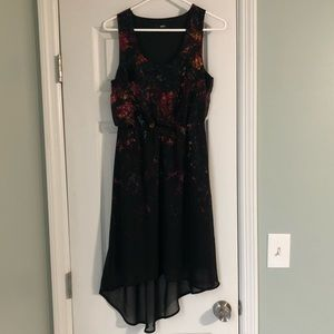 Mossimo juniors black Dress with colorful print